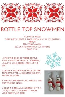 Bottle top snowmen