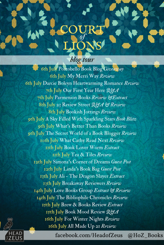 Court of Lions blog tour banner