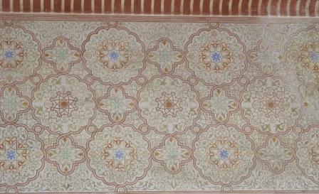 Malaga - alcazaba wall tiles