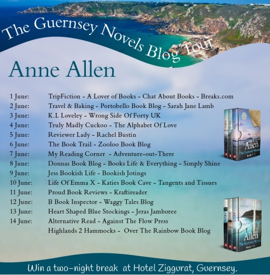 The Guernsey Novels - Blog Banner Including Blog Schedule
