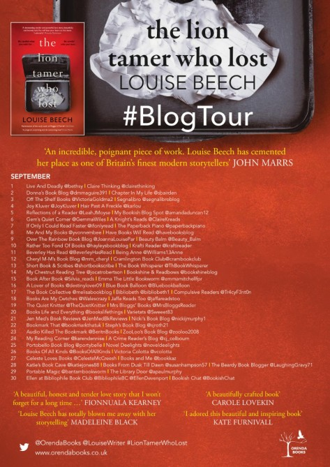 The Lion Tamer Blog Tour Poster Final